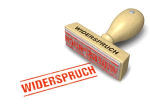 Stempel: WIDERSPRUCH
