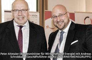 Andreas Schrobback mit Bundeswirtschaftsminister Peter Altmaier (CDU)